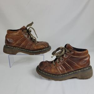 Dr. Martens 2C01 Air wair Brown Leather Boots Shoe